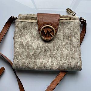 Michael Kors Tan and Cream Crossbody Bag